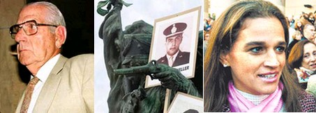 El dictador Reynaldo Bignone hoy - La marcha de Plaza San Martin - La trasnochada Cecilia Pando