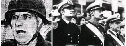 El dictador Reynaldo Bignone ayer - La Junta Militar genocida del '76