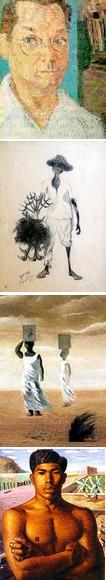 Autorretrato de Portinari y otras obras