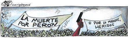 Ilustración publicada hoy miércoles 18 en Página/12