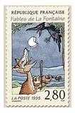 Estampilla francesa dedicada a El Cuervo y ElZorro