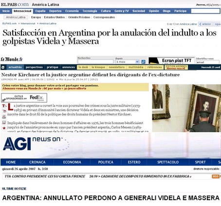 Repercusión en medios de España, Francia eItalia