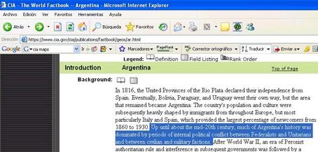 Breve historia argentina según laCIA