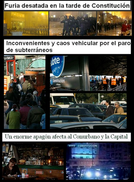 Imágenes y titulares extraidos de los diarios La Nación, Clarin, Página/12 eInfoRegión