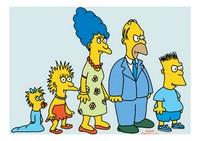 La primera versión de Los Simpsons. Captura deWikipedia