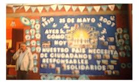 Acto escolar por el 25 de mayo en el Impenetrablechaqueño
