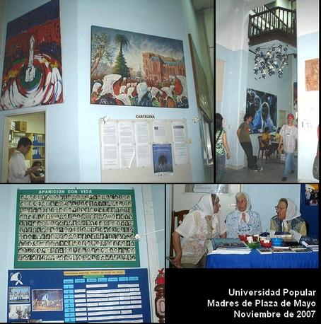 Fotos sacadas el 17 de noviembre pasado en la Universidad Popular de lasMadres
