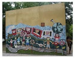 Mural de la construcción desde donde transmite LaColifata