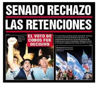 Tapa de Diario Popular