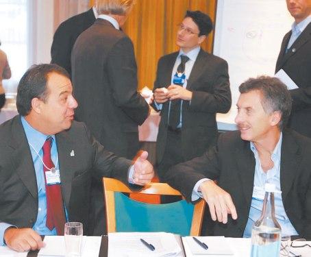 Macri, chocho en Davos. Copyright del diario La Razón