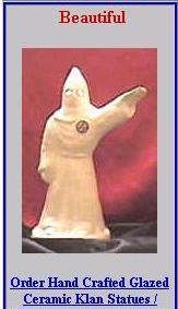 Otra joyita del sitio oficial del Ku Klux Klan