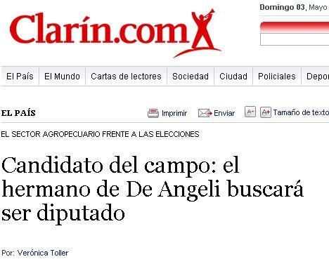 El hermano de Alfredo De Angeli, también