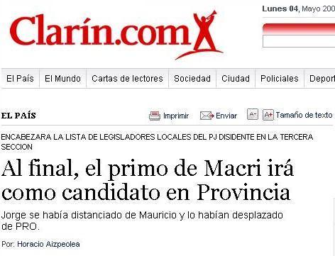 El primo de Mauricio Macri ya está en carrera