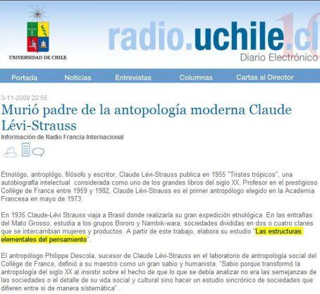 El portal de Radio Universidad de Chile repite la metida de pata.