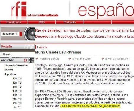 El error parece provenir de la versión en castellano de Radio Francia Internacional