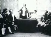 La recreación de Mario Gallo en 1909.