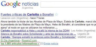 Resultados de Google Noticias.