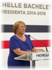 Michelle Bachelet incicará en marzo su segundo mandato presidencial.