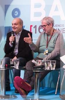 Lombardi y Panozzo condujeron la conferencia de prensa correspondiente al anuncio de las películas premiadas.