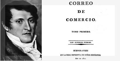 Periódico de Manuel Belgrano, con sello de la Universidad deIllinois