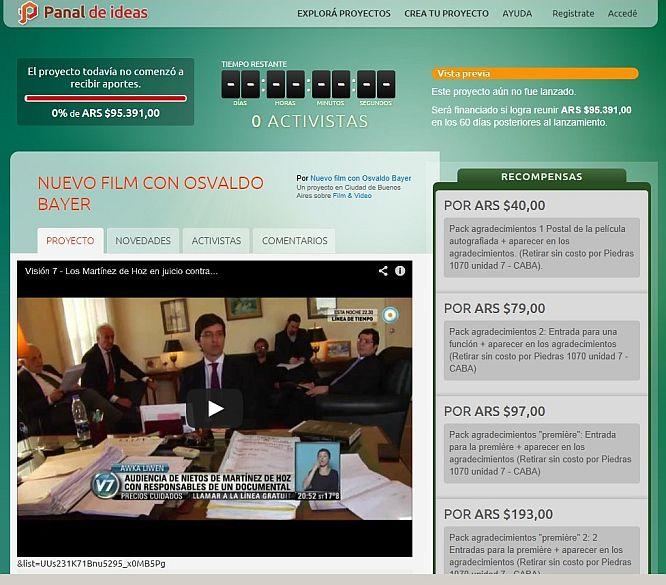 La página de Panal de Ideas antes de ser activada.