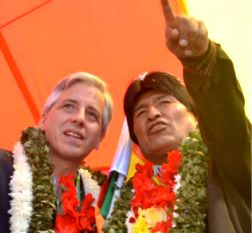 Evo Morales habló el miércoles 21 de enero desde la Puerta Principal del Templo de Kalasasaya. Álvaro García Linera, el jueves 22 en la Asamblea Legislativa Plurinacional.