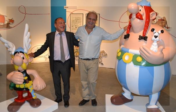 El ministro Lombardi y el embajador Casa en la inauguración que tuvo lugar el viernes. Foto de la Embajada de Francia.