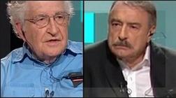 Chomsky y Ramonet grabaron el viernes 13 la entrevista que Canal 7 emitió anoche.