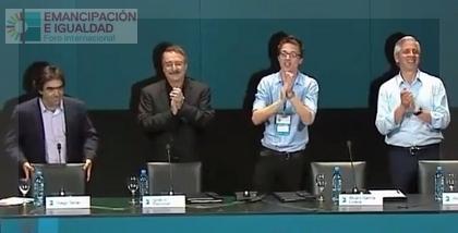Bolivia y España compartieron una mesa inédita, de la mano de García Linera, Errejón yRamonet