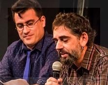 El anuncio de los ganadores, por los programadores de Juan Manuel Domínguez y Fran Gayo.