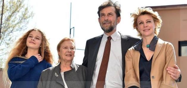 De izquierda a derecha, Beatrice Mancini, Giulia Lazzarini, Nanni Moretti, Margherita Buy. Copyright ANSA.