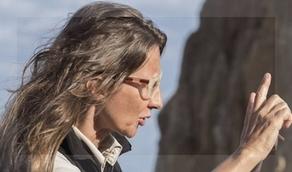 Foto de Martel que ilustra la entrevista publicada en Clarín. ¿De archivo o tomada durante el rodaje?