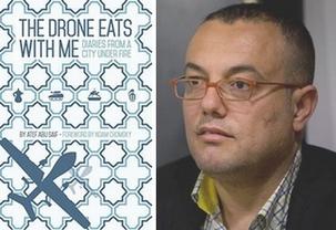 El dron come conmigo: portada y autor.