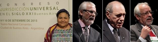 Rigoberta Menchú, Baltazar Garzón, Raúl Zaffaroni, Horacio Verbitsky, algunos de los personajes malditos que participaron del congreso.