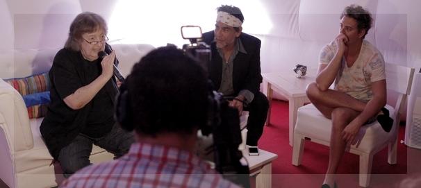 Palomino, director artístico, y Feimann, padrino del Festival, juntos en tiempos de la primera edición.