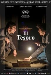 Costi y Adrián, en el afiche para la distribución internacional de -en rumano- 'Comoara'.