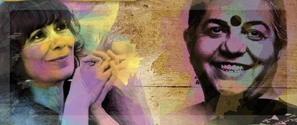 Marie-Monique Robin y Vandana Shiva según la gráfica hecha por la gente del FINCA.