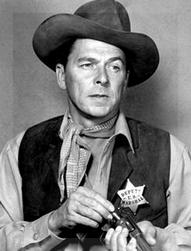 Ronald Reagan, sheriff en La Ley del Oeste.