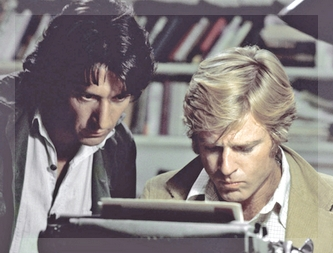 Dustin Hoffman y Robert Redford, 40 años atrás en All the President's men.