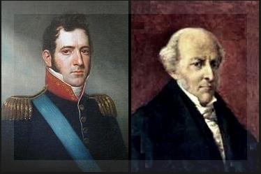 Medrano (der.) amplió el alcance de la declaración de nuestra independencia por temor a la gestión de compatriotas como Alvear (izq).