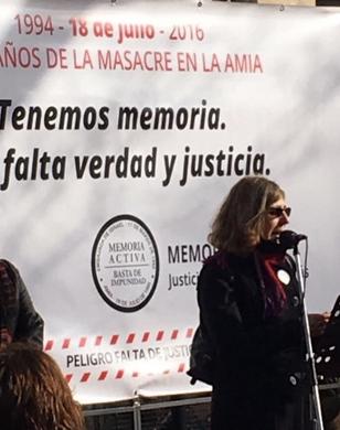 Diana Malamud perdió a su esposo Andrés el 18 de julio de 1994.