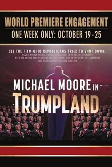 """""""Mire la película que los Republicanos de Ohio quisieron censurar"""" reza el cartel del film-sorpresa de Michael Moore."""