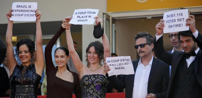 protesta en Cannes.